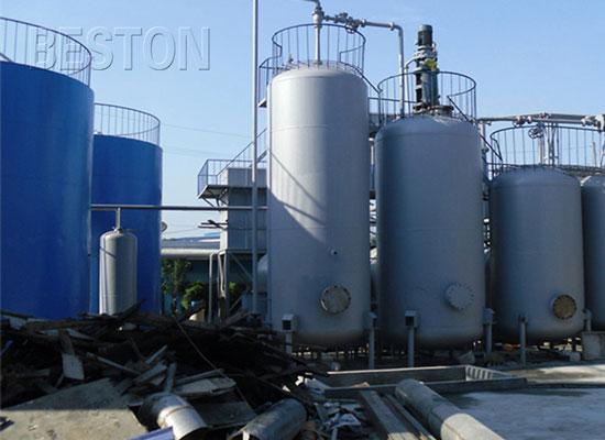 waste plastic to diesel machine