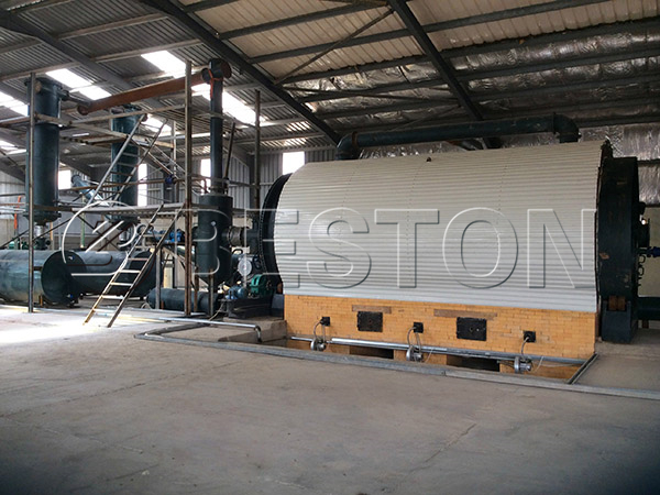 waste tire to oil pyrolysis plant for sale