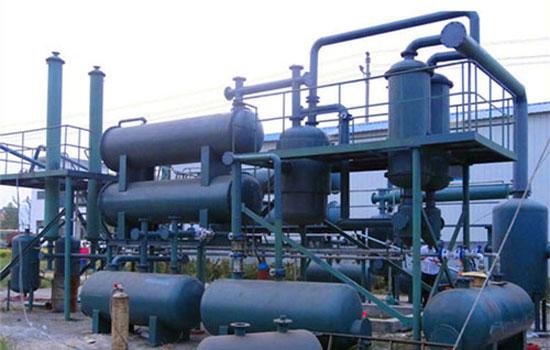 turning plastic to diesel plant