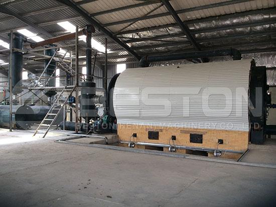 BLJ-16 Tyre Pyrolysis Plant in Jordan